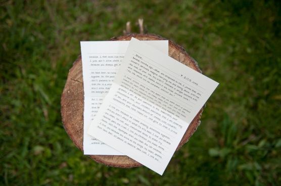 My written vows to Bryce