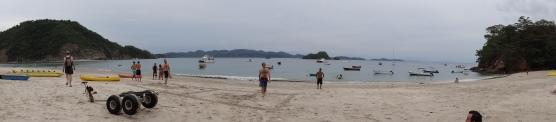 Beach at Tortuga Island.