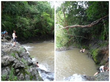 Bryce jumping.