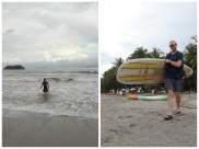 Bryce surfing on Playa Samara.