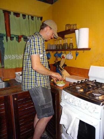 Bryce making guacamole.