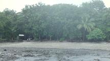 Rain on the beach of Casa Astrid.