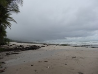 View of the stormy weather at a random beach we stopped at.