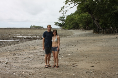 On the beach of Casa Astrid with Cemetery Island behind us.