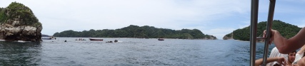 Panoramic view of the spot where we snorkeled.