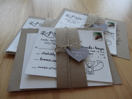 Miranda + Bryce | Woodland Wedding Invites