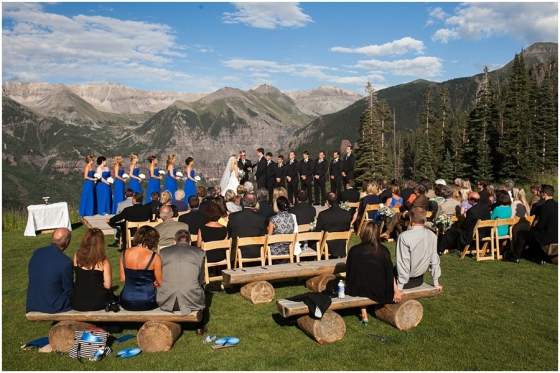 Telluride's San Sophia Overlook boasts some pretty darn amazing views. Of course it would - the ceremony site sits at an elevation of 10,500 ft and comes with a huge price tag! And after you're done getting married, you skip off to this incredible cabin on the mountains for your reception.