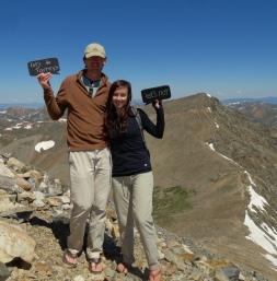 Grays Peak and Torreys Peak hiking