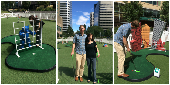 Miniature Golf Course at Skyline Park in Downtown Denver - the obstacles are all miniature version of iconic structures in downtown Denver