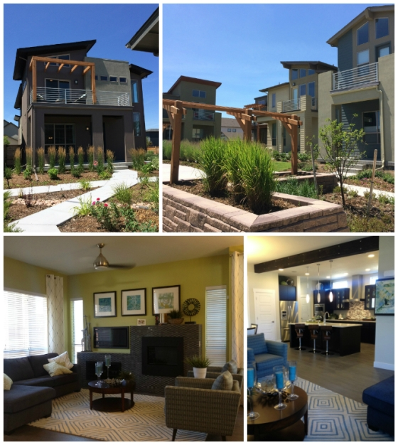 The Stapleton models by Wonderland Homes. It was impossible not to fall in love with how cool they looked on the outside, the fun balconies upstairs, and just the overall nice feel of the established community.