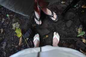 Our clean feel and Reef sandals at the start of the 8 mile hike. We were glad we wore sandals for all the river crossings.