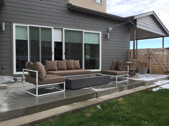 CB2 casbah patio furniture restoration hardware mendocino fire table