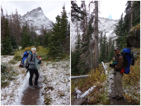 south colony lakes backpacking with pups