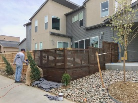 wood fence staining