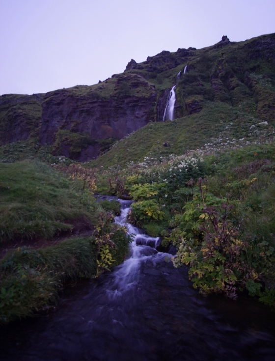 Waterfall near Seljalandfoss
