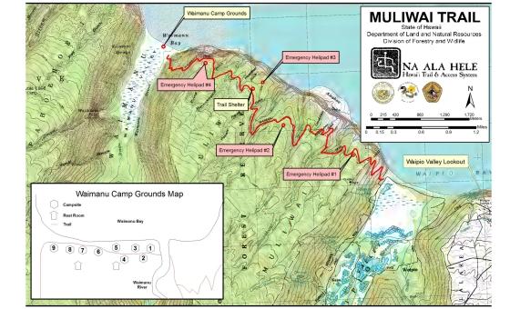 Hawaii Muliwai Trail Waipio Valley to Waimanu Valley