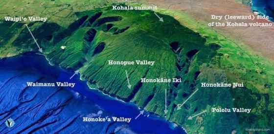 kohala-valleys