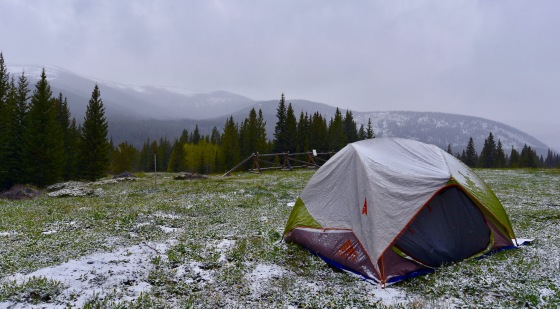mammoth gulch snow camping june 2019