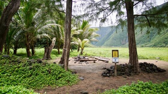 waimanu campsite 2